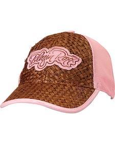 Blazin Roxx Raffia Straw Mesh Back Cap