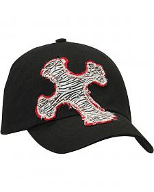 Blazin Roxx Embellished Zebra Print Cross Patch Cap