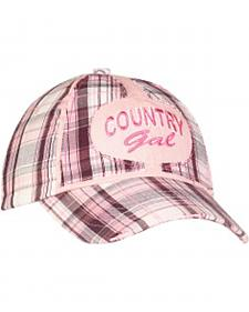 "Blazin Roxx ""Country Gal"" Embroidered Plaid Cap"