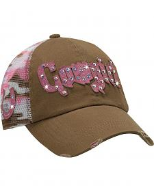 Blazin Roxx Cowgirl Camo Print Mesh Back Cap