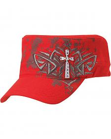Blazin Roxx Screen Print & Bedecked Cross Embroidered Cap