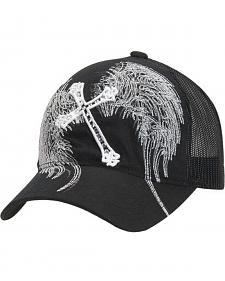 Blazin Roxx Cross & Wing Embroidered Mesh Back Cap