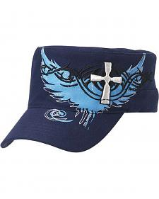 Blazin Roxx Wing Screen Print & Cross Embroidered Cap