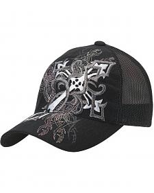 Blazin Roxx Diagonal Cross Embroidered Flex Fit Cap