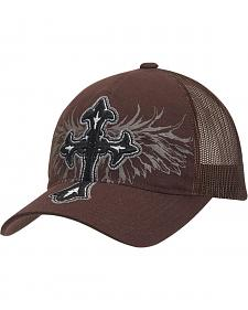 Blazin Roxx Cross Embroidered Wing Screen Print Flex Fit Cap