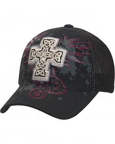 Blazin Roxx Bedecked Cross Mesh Back Cap