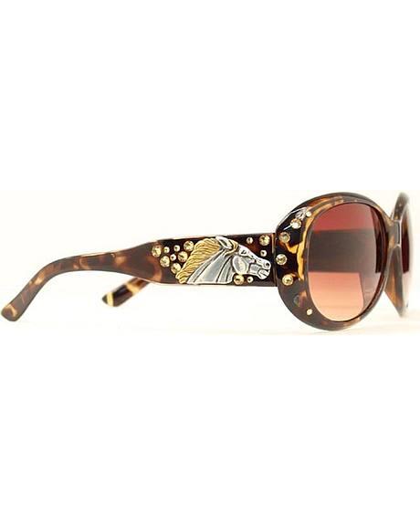 Blazin Roxx Horse Head Tortoise Shell Sunglasses