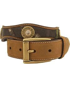 Nocona Mossy Oak Kids' 12-Gauge Leather Belt - 18-26