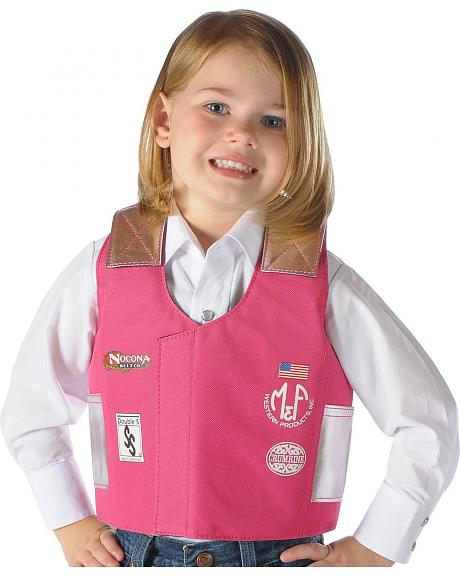 Girls bull rider play vest - 2-10 years