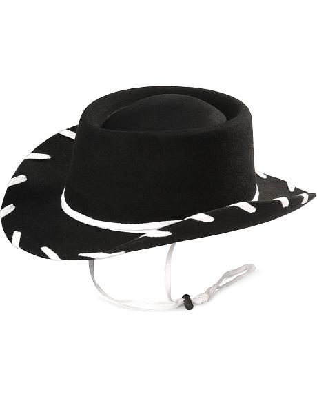 Children's Black Woody Cowboy Hat