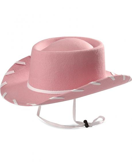 Children's Pink Woody Cowboy Hat