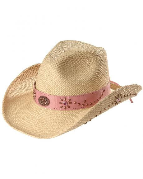 Bullhide Girls' Daughter of the West Straw Cowgirl Hat