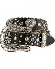 Nocona Girls Heart Concho Leather Belt - 18-26
