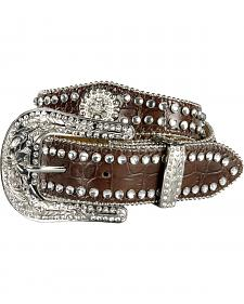 Nocona Girls' Scallop Concho Rhinestone Belt - 18-26