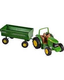 John Deere Toy Tractor & Wagon