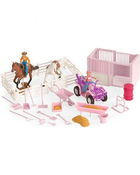Stall & Four-Wheeler Stable Toy Set