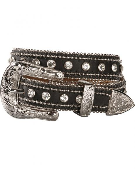 Nocona Girls' Ball-chain & Rhinestone Belt - 18-28