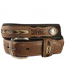 Kids' Inset & Concho Adorned Leather Belt - 18-28