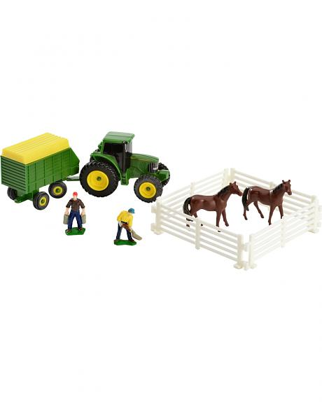 John Deere 10 Piece Farm Toy Set