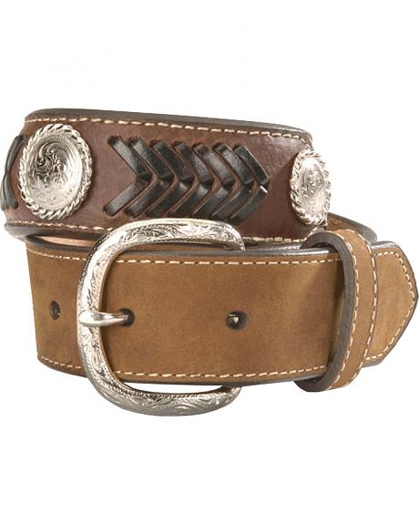 Nocona Kids' Ribbon Overlay & Laced Belt - 18-28