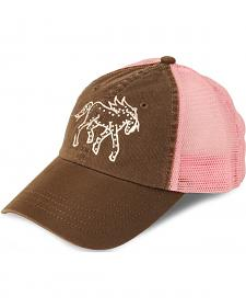 Girls' Rhinestone Pony Cap