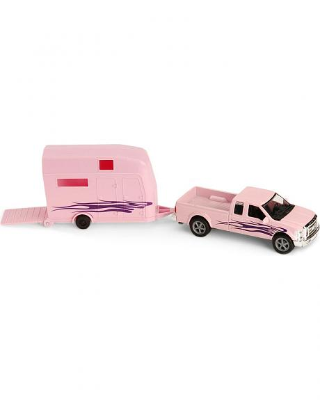 Pink Ford F-250 Truck and Trailer Toy