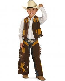Kids' Faux Suede Vest and Chaps Set