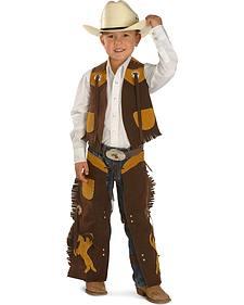 Kids' Faux Suede Vest and Chaps Set
