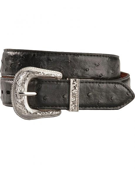 Exclusive Gibson Trading Co. Reversible Ostrich Print Belt