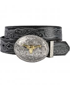 Exclusive Gibson Trading Co. Kids' Reversible Tooled Belt