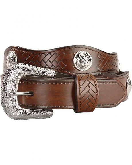 Exclusive GibsonTrading Co. Kids' Scallop Belt with Conchos