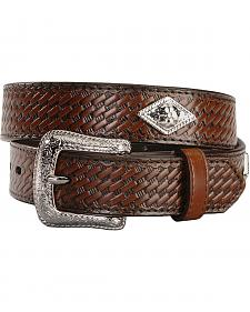 Exclusive Gibson Trading Company Kids' Basketweave Concho Belt