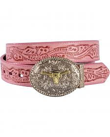 Exclusive Gibson Trading Co. Girls' Reversible Tooled Belt