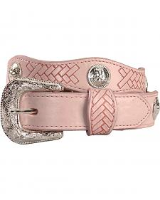 Exclusive Gibson Trading Co. Girls' Pink Scalloped Concho Belt