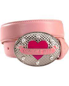Nocona Girls' Pink Leather Belt