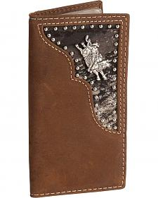 Nocona Bullrider Concho Leather Youth Rodeo Wallet