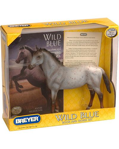 """Wild Blue"" Toy Horse & Book Set Western & Country 6136"