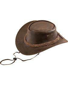 Bullhide Kids' Cedar Grove Leather Outback Hat