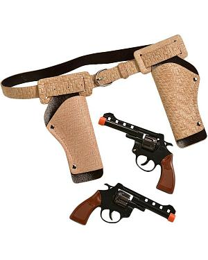 Little Outlaw Double Gun Holster Set