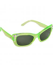 Blazin Roxx Girls' Green Rhinestone Sunglasses