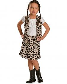 Girls' Cowprint Cowgirl Vest & Skirt Set
