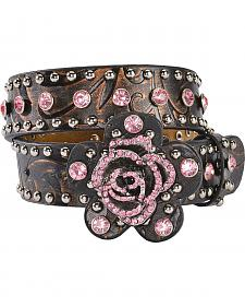 Nocona Rose Buckle Western Belt