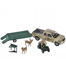 Bigtime Hunter Camo Truck with Trailer & Four Wheeler