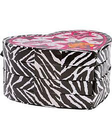Zebra Heart Cosmetic Case Make Up Set