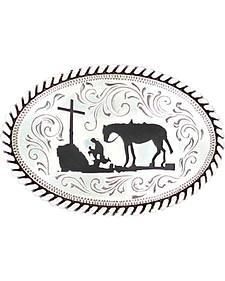 Kids' Nocona Cowboy Prayer Belt Buckle
