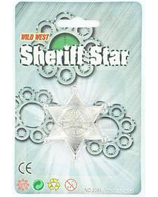 Kids' Wild West Sheriff Star Badge