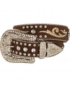 M & F Western Girls' Rhinestone Inlay Western Belt