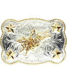 M & F Western Kids' Bull Rider & Stars Belt Buckle
