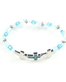 Girls' Blue Cross Bracelet
