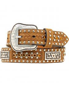 Kids' Bling & Basketweave Western Belt